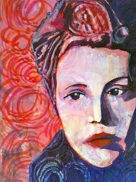 Mixed Media Art Journal page by Maryjo McGraw using StencilGirl stencils.
