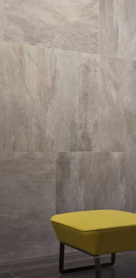 Ceramic porcelain stoneware slate tiles for luxury spaces: Ardoise Rex