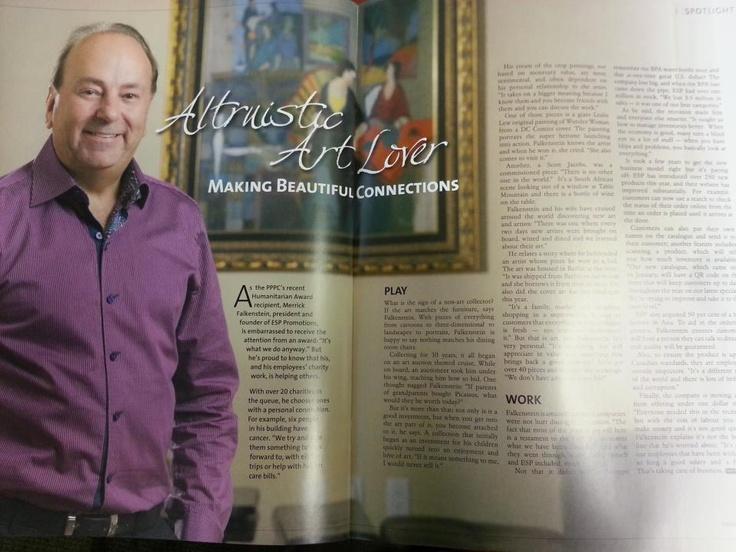 Merrick Falkenstein, President and CEO, being featured in Marketing Edge Magazine