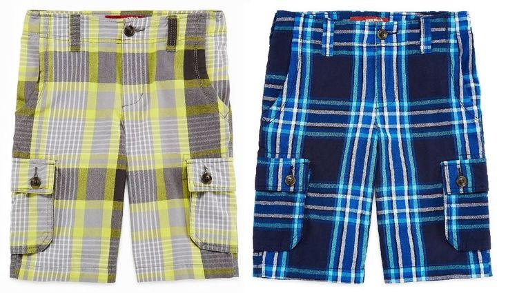 Arizona Boys Plaid Cargo Shorts Cotton adjustable Reg Husky sizes 8 14 20 NEW  12.99 http://www.ebay.com/itm/-/252617697804?