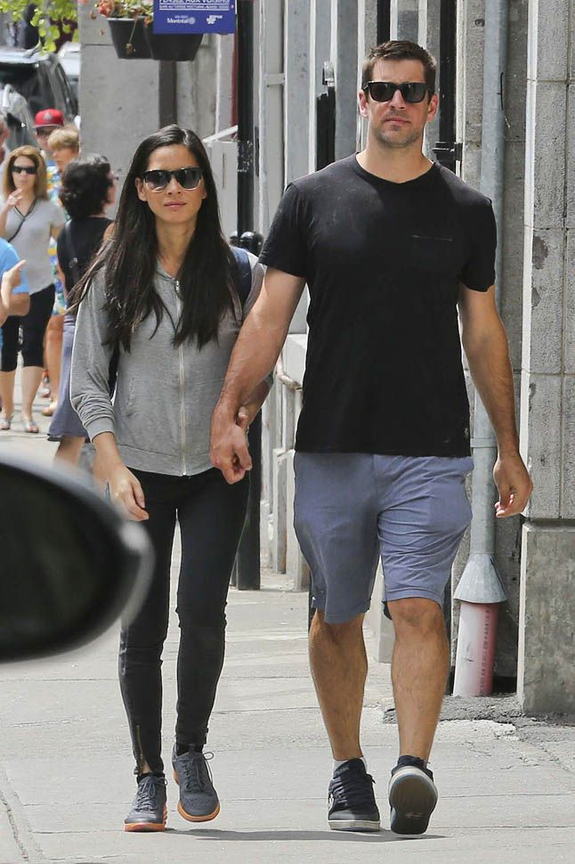 Aaron Rodgers and Olivia Munn Hand Holding in Montreal   Terez Owens
