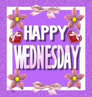 Purple Wednesday | Happy Wednesday Purple Glitter
