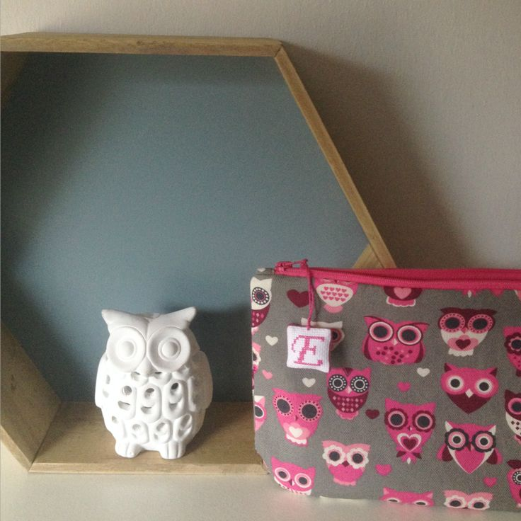 owl fabric pouch