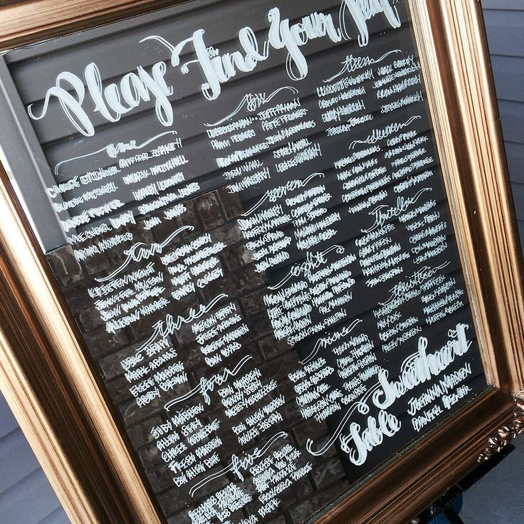 130 best Mirror Seating Charts images on Pinterest Adventure - wedding charts