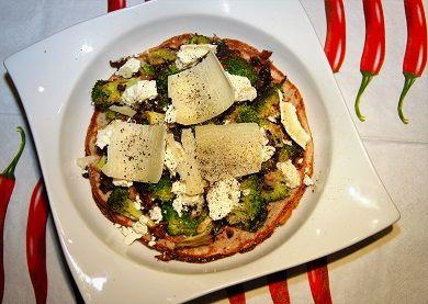 Palačinka s brokolicí a sýrem /Pancake with broccoli and cheese/ Zdravé, nízkosacharidové, bezlepkové recepty. (Healthy, low carb, gluten free recipes.)