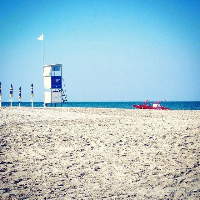 20170531_la spiaggia tutta per me 👌  #baech #romagna #riviera