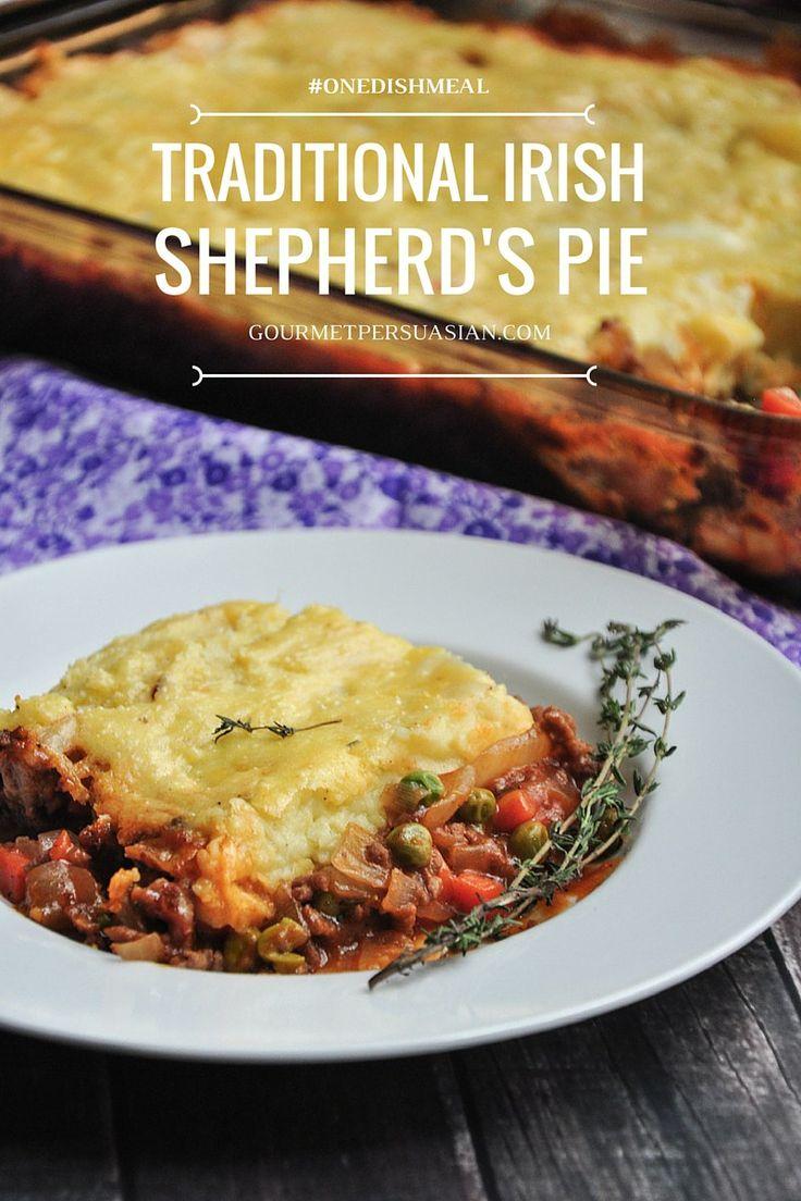 Traditional Irish Shepherd's Pie with ground beef | relish plan .com