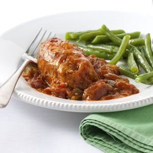 Garden Chicken Cacciatore Healthy Slow Cooker Recipe from Taste of Home -- shared by Martha Schirmacher of Sterling Heights, Michigan