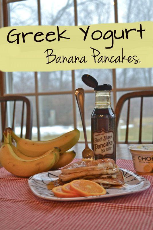 Greek Yogurt Banana Pancakes.  Sugarless and Eggless.