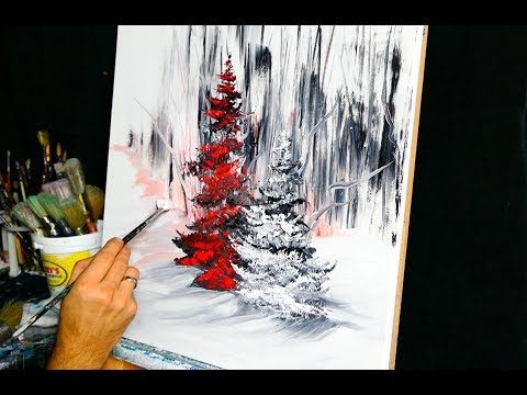Red pine – an abstract painting by Dranitsyn – YouTube