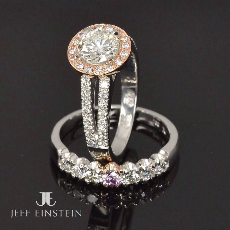 White diamonds and a touch of pink diamonds, featured here in two of our latest custom crafted rings ❤️ . . #jeffeinsteinjewellery #doublebay #sydney #SydneyLife #diamond #engaged #engagement #engagementring #wedding #weddingring #jewelry #jewellery #handmadejewellery #sparkle