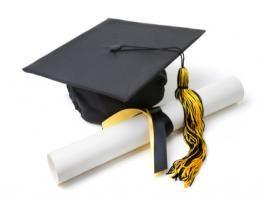 iStock031630XSmall - mortar board and diploma