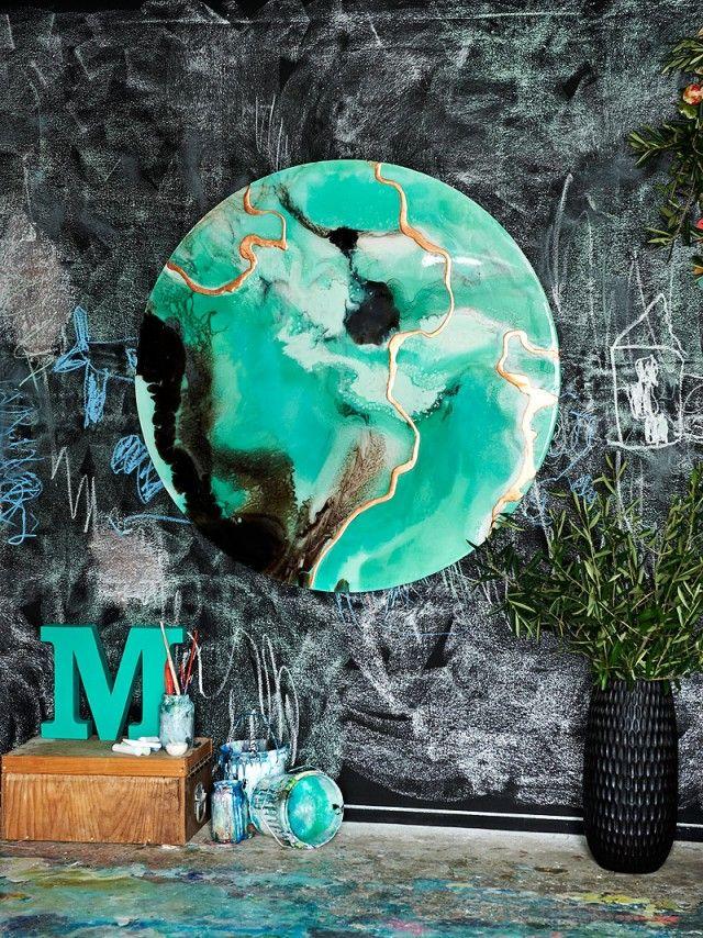Megan Weston - Bright Abstract Artwork - feature wall