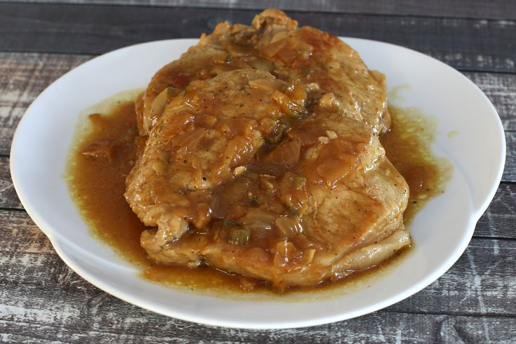 Braised Butterflied Pork Chops With Tangy Sauce