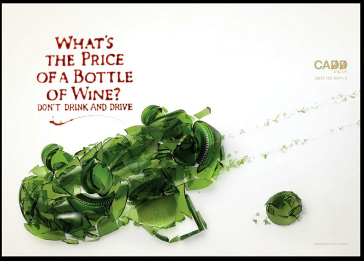 """""""What's the price of a bottle of wine?"""" by JWT London for Campaign Aigainst Drinking and Driving.  #alcohol #drinking #driving #wine"""
