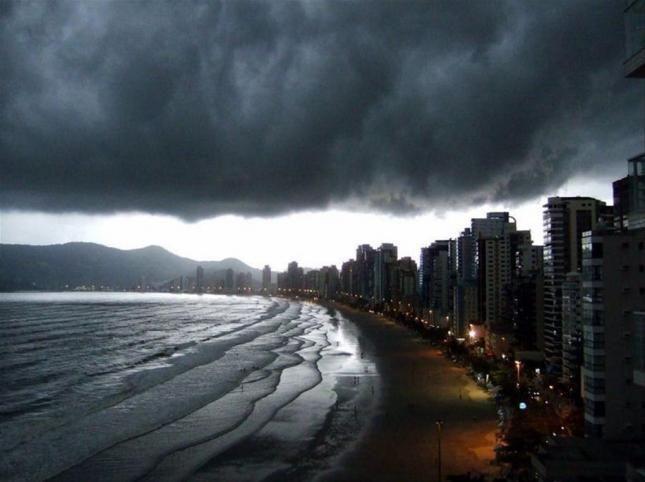 Under a big Cumulus Nimbus, State of Santa Catarina, Brazil.