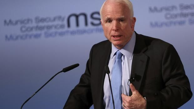 John McCain blasts Trump in Munich speech - CBS News