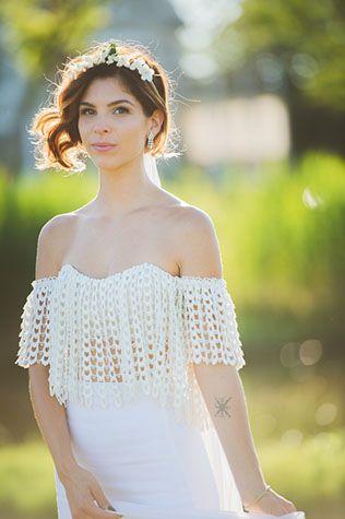Открытое свадебное платье crop top - The-wedding.ru
