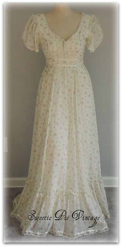 Gunne Sax dresses - Oh my goodness...I wore this exact same dress to Prom my senior year in 1982