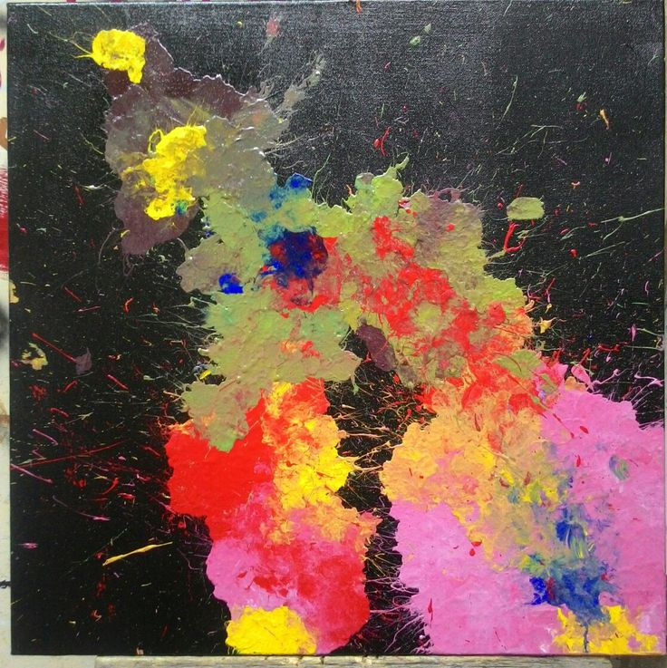 """Berbeda tetap satu tujuan"" 50x50cm Acrylic on canvas 2014"