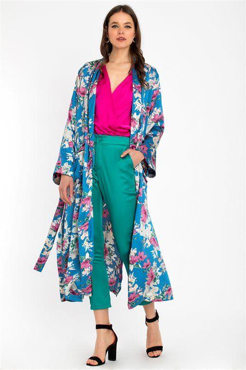 d7b01db882 FLORAL MAXI KIMONO - CLOTHES -  Πανωφόρια -  Kimono
