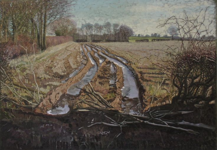 Holme Wood Lane - Oil painting by atom Wormell