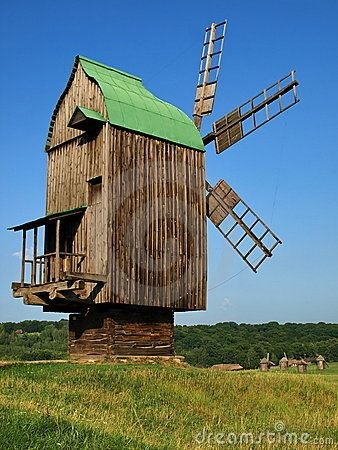 ✽    old windmill In pirogovo, ukraine  (stock photos - image: 22415593)