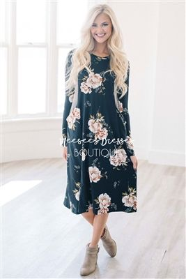 Black Stripe Floral Dress, Modest Dress Bridesmaids Dress, Church Dresses, dresses for church, modest bridesmaids dresses, cute modest dresses, modest clothes, affordable modest dresses, cute modest dclothes, best online modest boutique