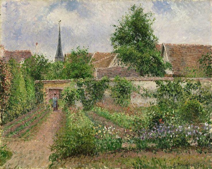 Писсарро, Камиль (1830 остров Сен-Тома (Вест-Индия) - 1903 Париж) -- Огород в облачное утро, Эраньи. Музей искусств Филадельфии