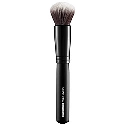 Sephora Collection Classic Mineral Powder Brush #45....soft, doesn't shed...perfect shape and density for applying mineral powder. It's a little smaller than others so it requires a touch more work to get the job done, but it's so worth it because it really helps gives awesome, buildable coverage.
