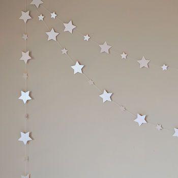 Shimmer White Starlight Stars Paper Garland