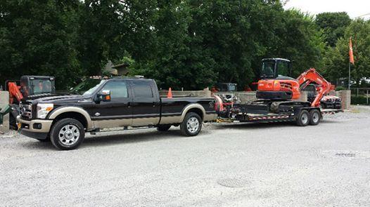 Another Kaufman front tilt equipment trailer ready to work! http://www.kaufmantrailers.com/equipment-trailers/