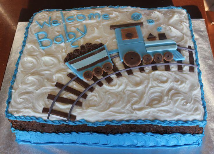 Train Baby Shower Cake Part - 45: Baby ...