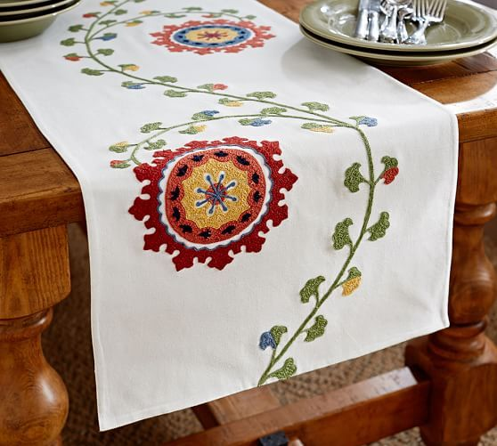 Salima Multi Suzani Table Runner | Pottery Barn