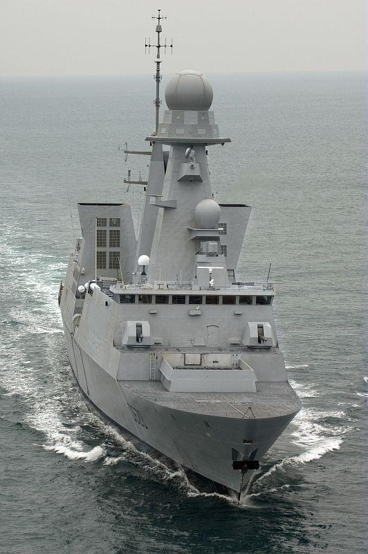 French Marine Nationale Horizon class anti aircraft frigate FS Forbin.(D 620).