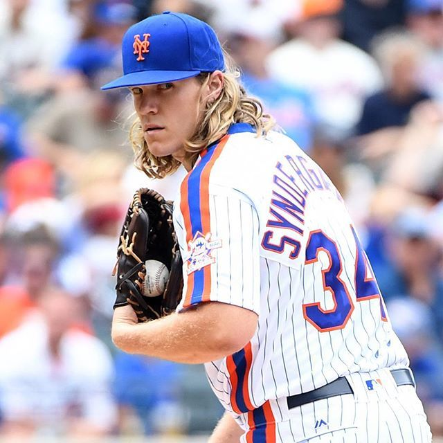 Even his stare shoots ⚡️. #LGM #RallyTogether #Mets #Thor #MLB
