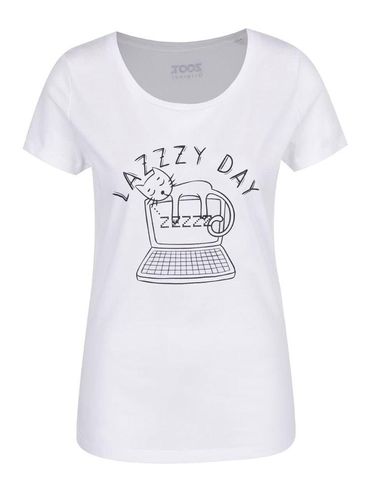 Biele dámske tričko ZOOT Originál Lazy day