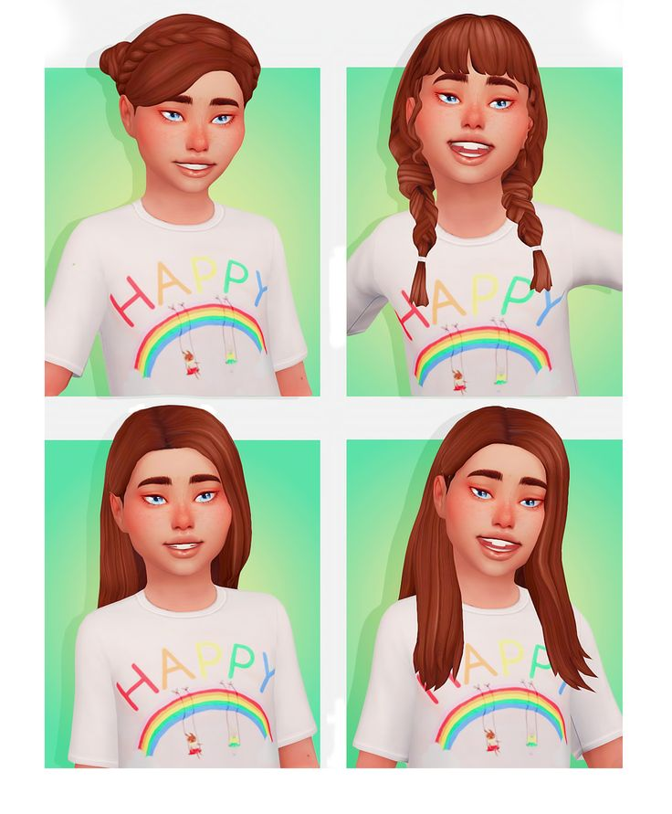 "naevys-sims: ""KIDS HAIR CONVERSIONS @aharris00britney Alyssa, Maddie & Madison…"