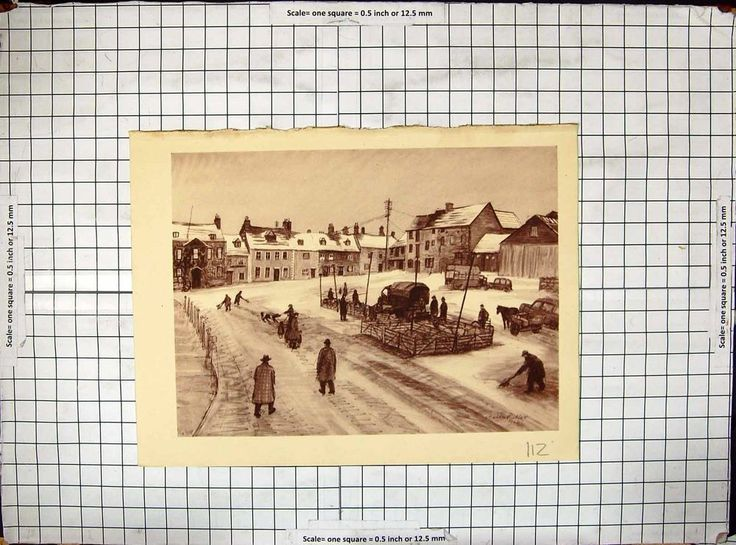 Antique Print of of View Cross Hayes Malmesbury Louisa Puller 1902