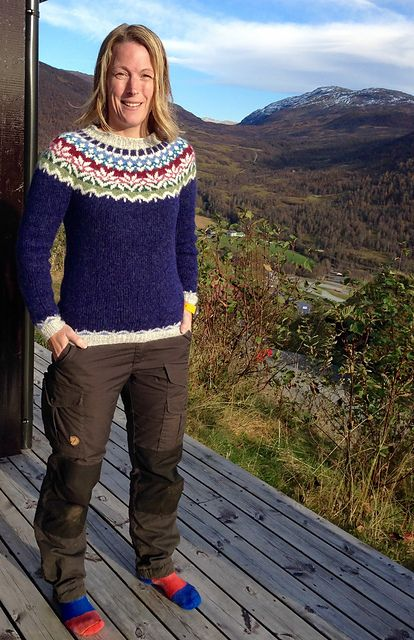 Ravelry: Project Gallery for Afmæli - 20-year anniversary sweater pattern by Védís Jónsdóttir for Ístex