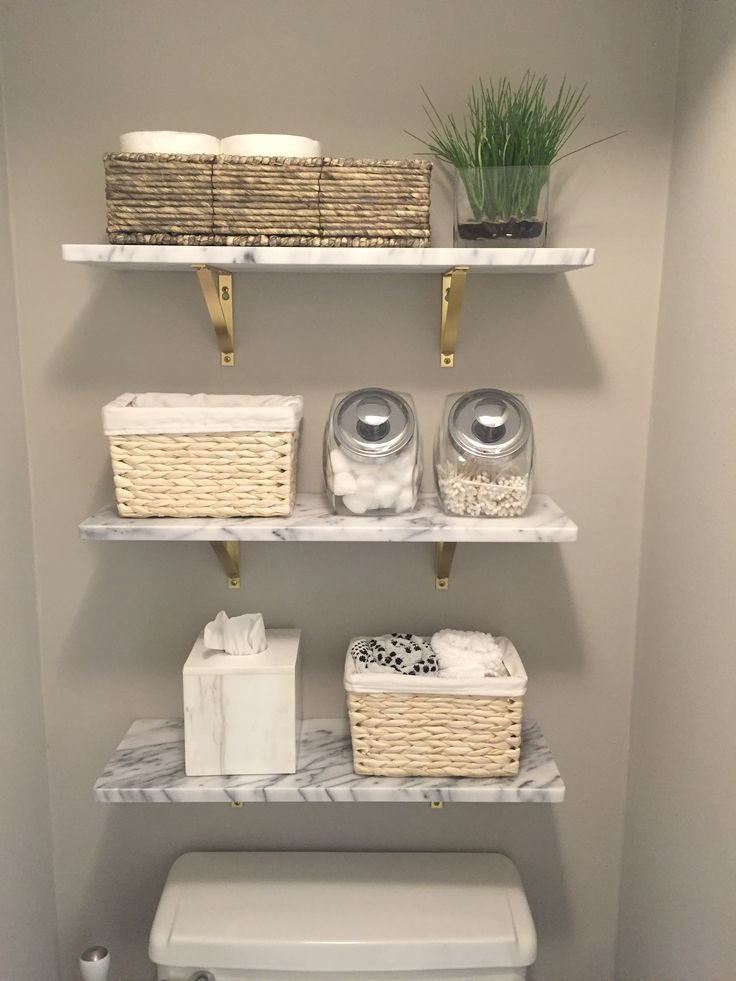 Marble Wall-Mounted Shelf 24″ + Reviews