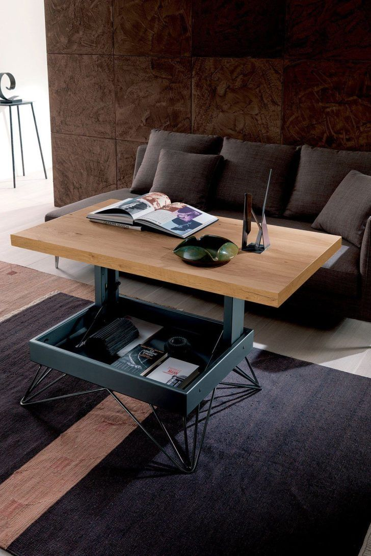 Table Basse Relevable In 2020 Coffee Table Furniture For Small