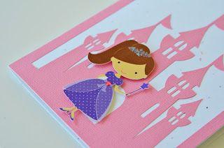 Jingvitations: Handmade Disney Princess Castle Birthday Invitations