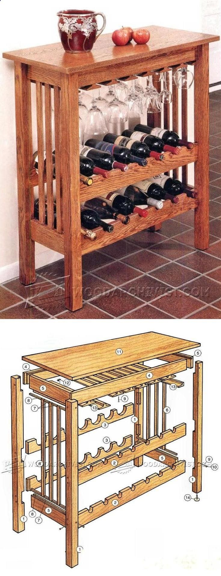 Wine rack table plans furniture plans and projects for Tabletop wine rack plans