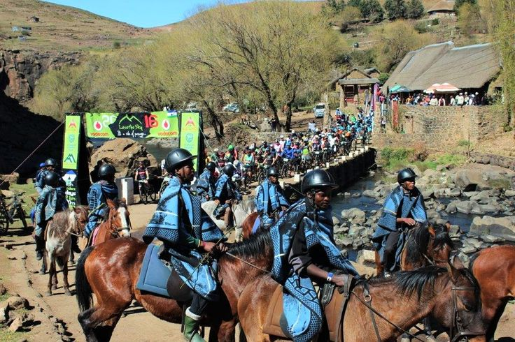 The start of the final day of Lesotho Sky 2016 at Semonkong Lodge. #RideOfPassage