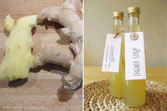 Ingwer - Sirup gegen Erkältung