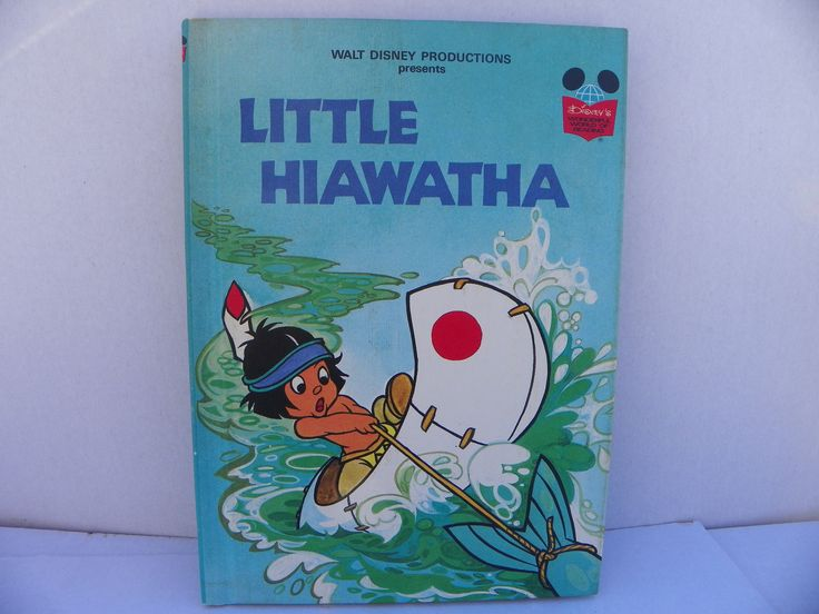 Little Hiawatha - Disney's Wonderful World Of Reading Hardcover Book - First American Edition , 1978 Disney Book , Children's Story Book by ShersBears on Etsy