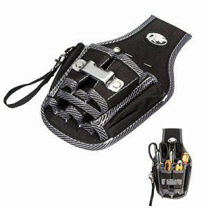 Mohoo 9 en 1 Électriciens Waist Pocket Belt Tool Pouch Sac tournevis Carry Case Holder