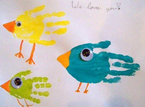 Instrucciones de esta y otras manualidades infantiles para la primavera en ►http://trucosyastucias.com/decorar-reciclando/manualidades-primavera-infantiles #manualidades #crafts #diy #manualidadesparaniños #niños #primavera #spring #kids #pintura #paint #birds