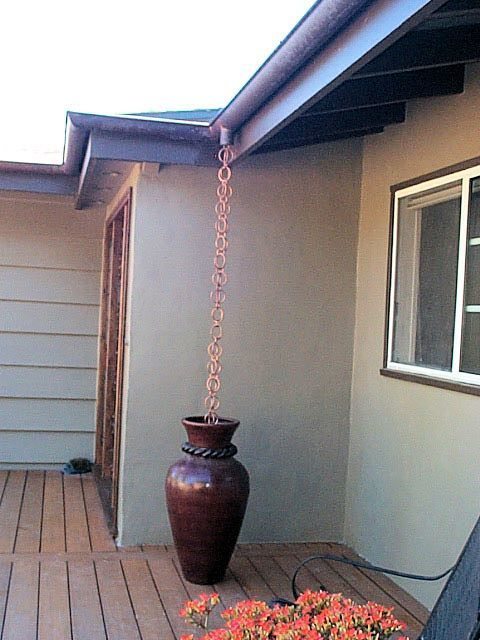 Rain+Chain+Homes+Depot | rain chains kusari doi rain chains rain chains provide a beautiful and ...
